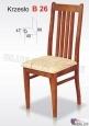 Krzesło B26 42x99 buk lakier
