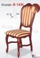 Krzesło B14/N  46x105 buk lakier