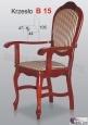 Krzesło B15  44x105 podłokietnik buk lakier