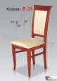 Krzesło B31  45x97 buk lakier