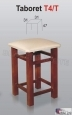 Taboret S01 (T4T) tapicer. kolory